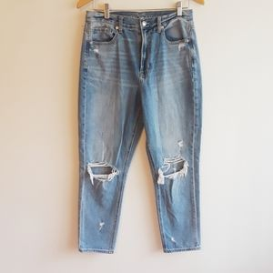 American Eagle outfitters Mom distr/destr jeans